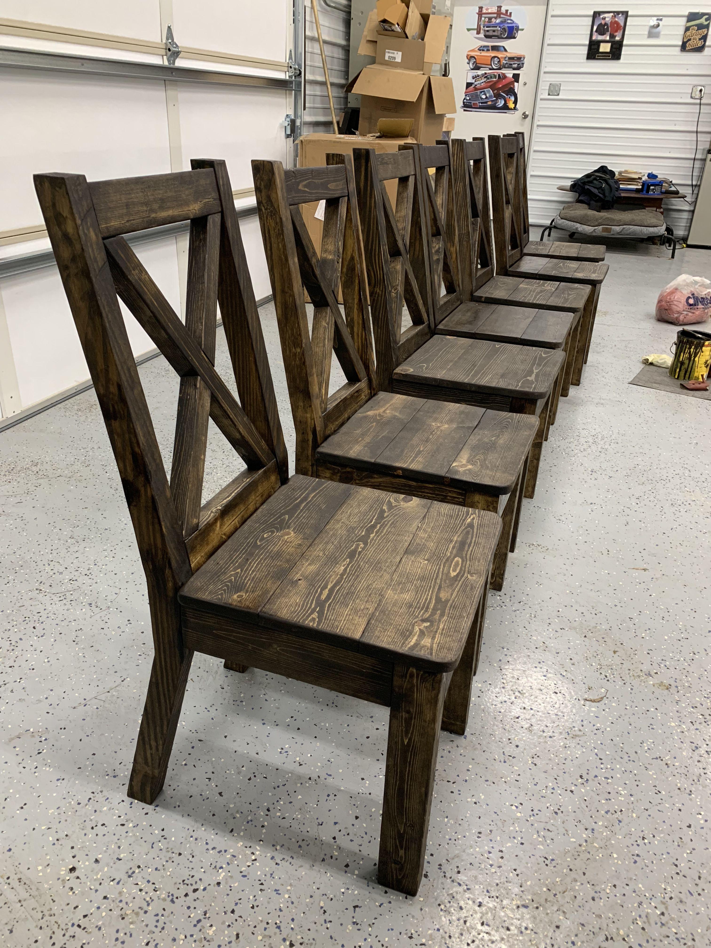 DIY Farmhouse Xback chairs! Dining chairs diy