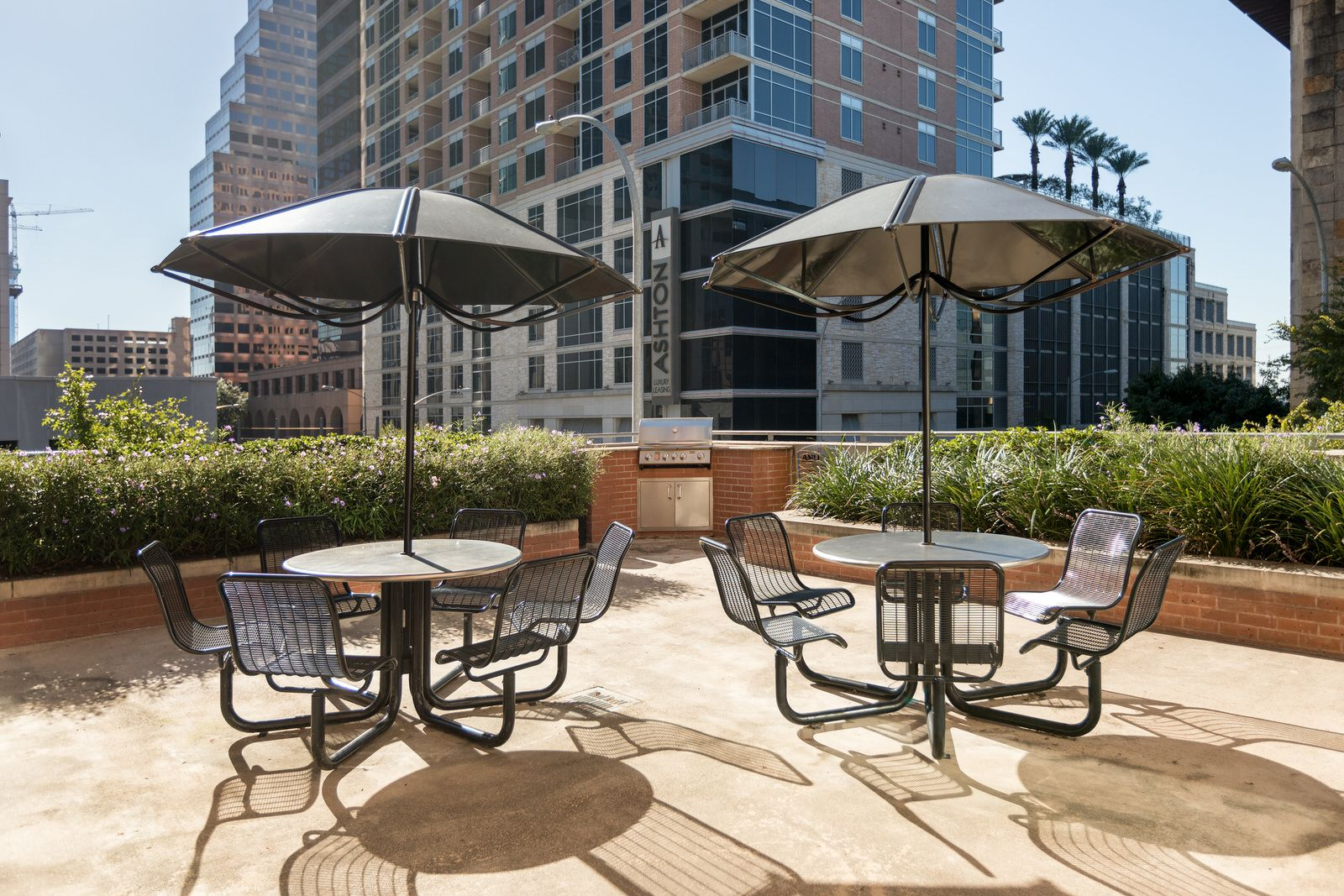 Enjoy a beautiful view from our amenity area. | Downtown ...