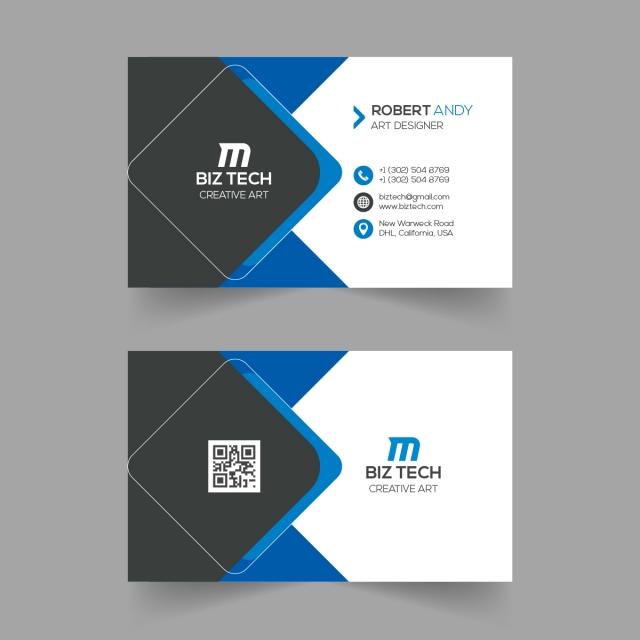 Creative Blue Business Card Template Design Blue Business Card Blue Business Card Design Business Card Psd