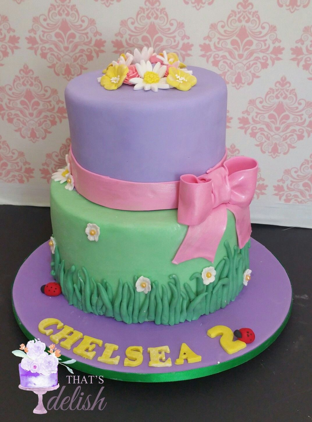 Love the colours of this cake girls birthday cake