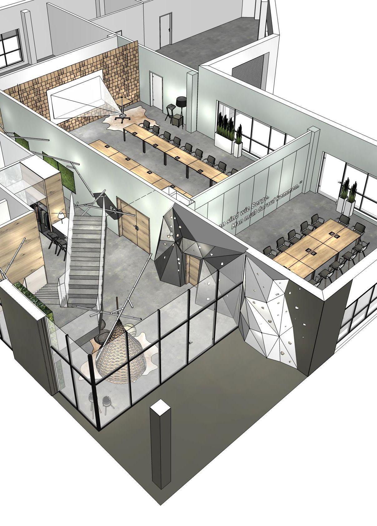 innenarchitektur moderne b roraumplanung die konsequente verwendung von holz und. Black Bedroom Furniture Sets. Home Design Ideas