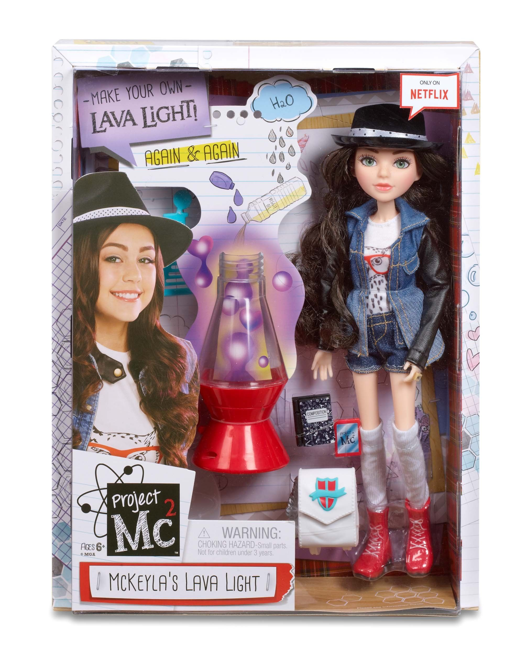 Amazon Project Mc2 Doll with Experiment McKeyla s Lava Light