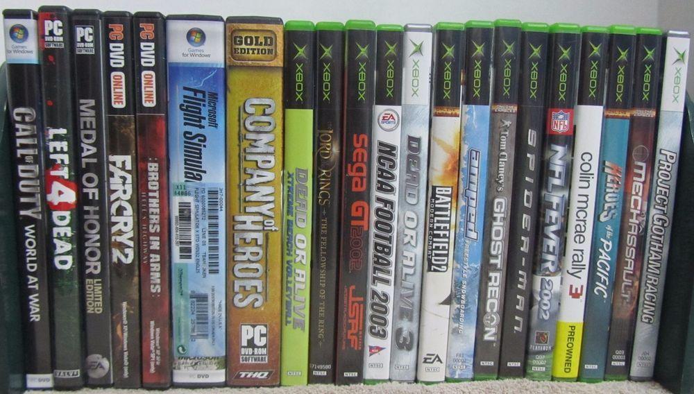 Video Game Lot Original Xbox (14) PC Dvd (7) Dead Alive Ghost Recon