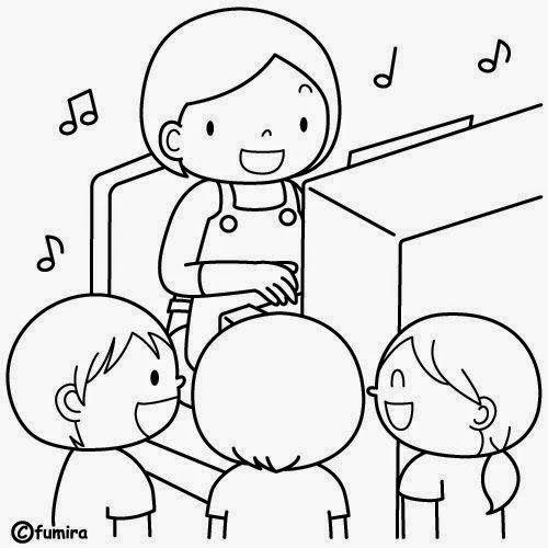 Dibujos Para Colorear Maestra De Infantil Y Primaria El Colegio Dibujos Para Colorear Igua Dibujo De Ninos Jugando Dibujos Para Ninos Dibujos Para Colorear