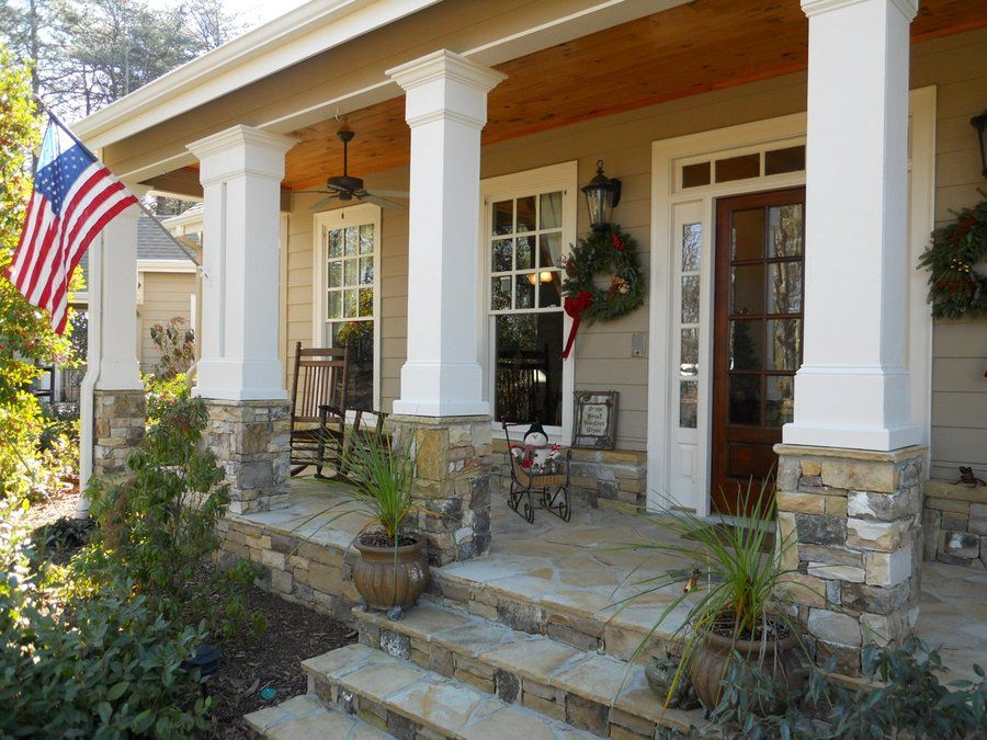 Alp 096t House Plan Country Front Porches House Exterior Stone