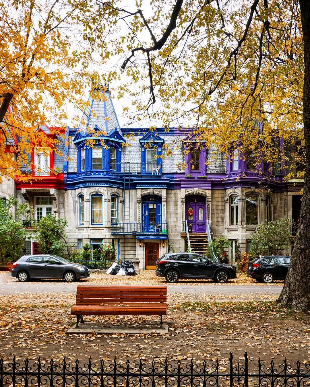 Montreal Is In The Colours Of Saint Louis Square