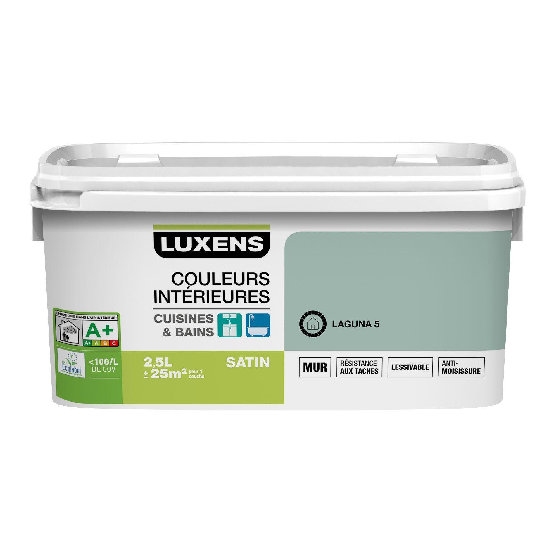 Peinture Couleurs Interieures Luxens Lagon 5 2 5 L Couleur Interieure Peinture Murale Cuisine Couleur Gris Taupe
