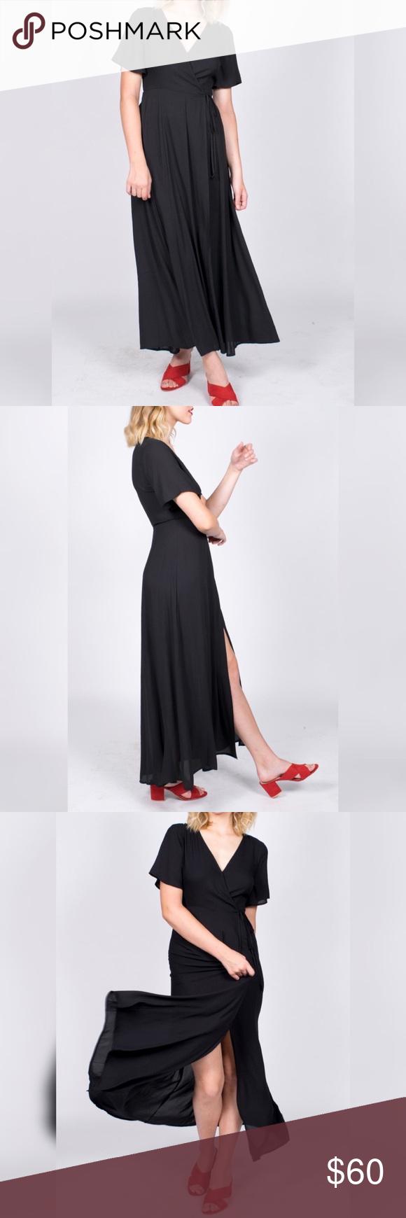 Nwt Lush Wrap Maxi Dress Lush Dresses Maxi Wrap Dress Dresses [ 1740 x 580 Pixel ]