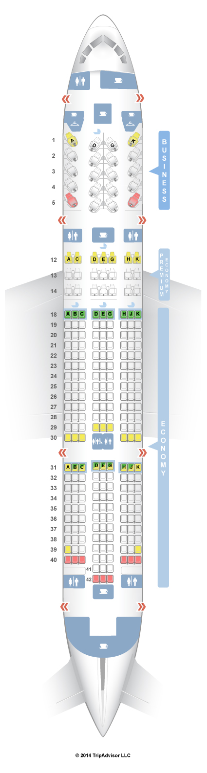 SeatGuru Seat Map Air Canada Boeing 7878 (788) TPI