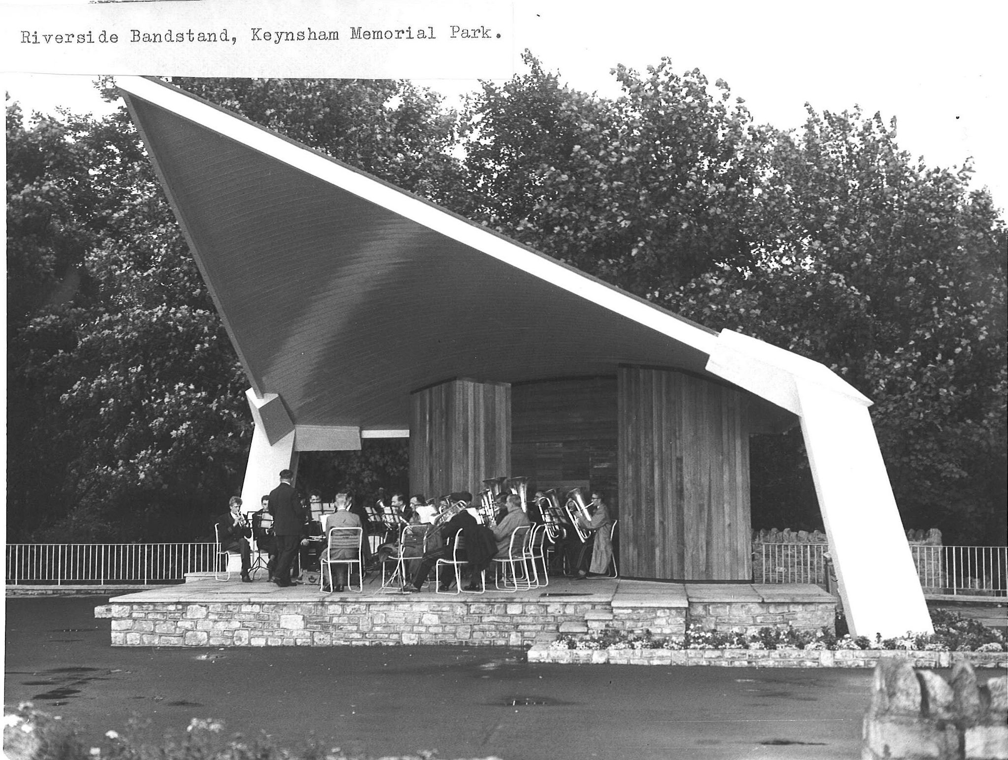 The Riverside Bandstand, Keynsham Park City of bristol