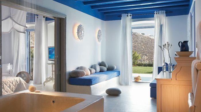 ▷ 1001+ photos inspirantes pour une décoration grecque   Grec, Bleu ...