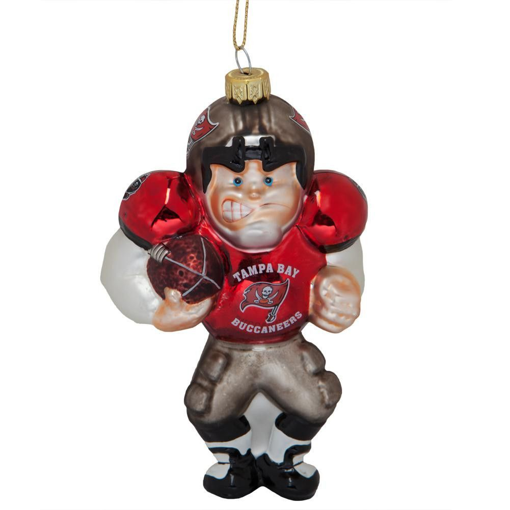 Football player ornament - Tampa Bay Buccaneers Blown Glass Football Player Ornament