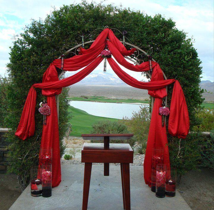 Stylish Wedding Ceremony Decor: Enchanted Florist Las Vegas- Wedding Ceremony Decor Fabric