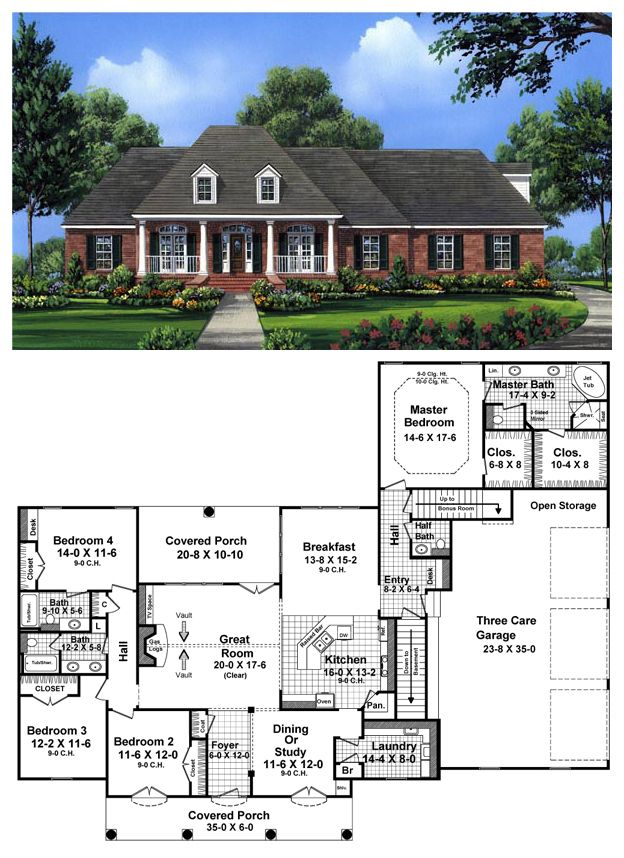 Country European French Country Southern House Plan 59956 – French Country House Plans Open Floor Plan