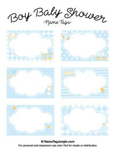 Free Printable Boy Baby Shower Name Tags. The Template Can Also Be Used For  Creating  Free Baby Shower Label Templates