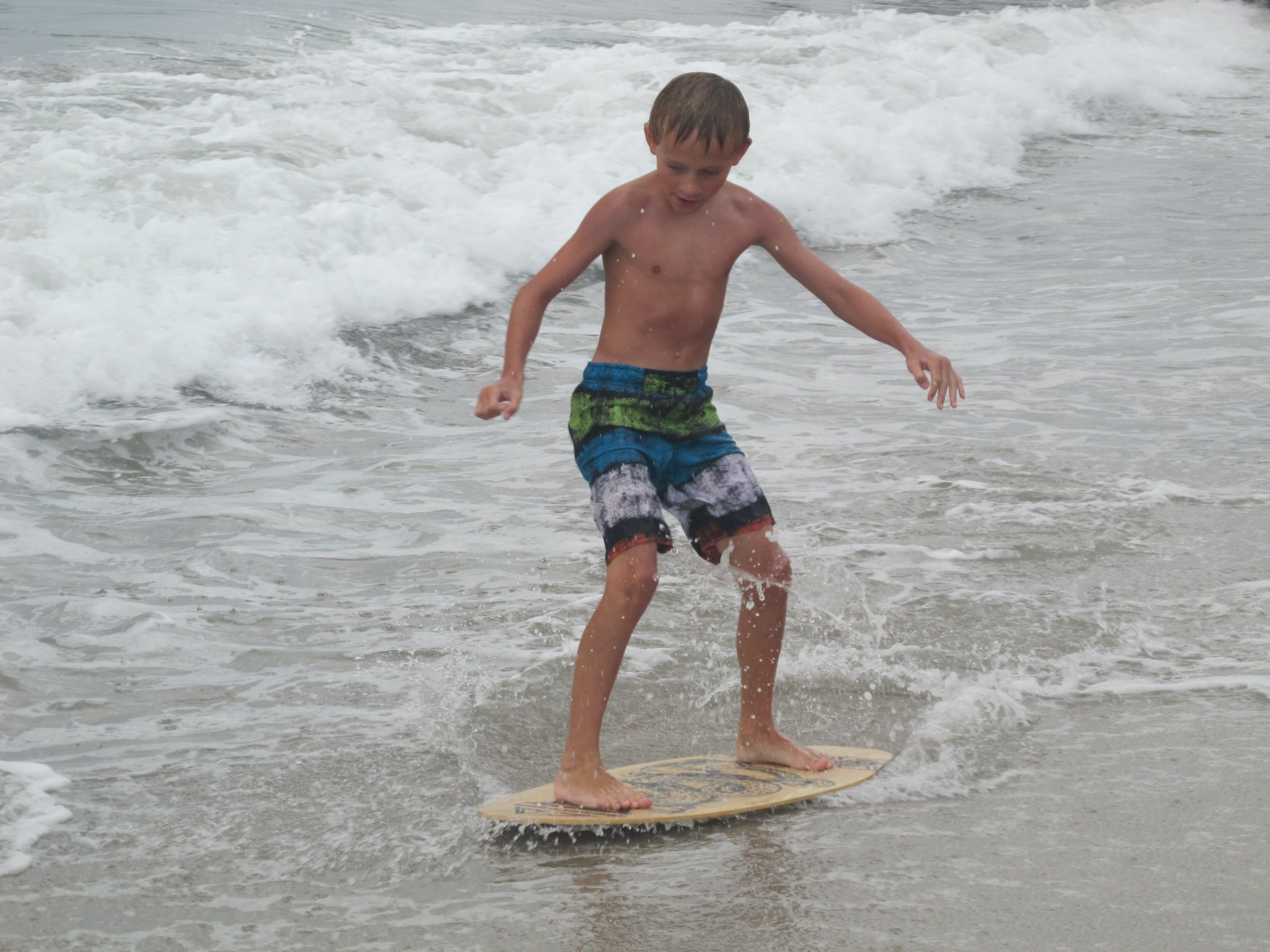 Skimboarding In Cape May Nj During Ecoventures Kids Programs