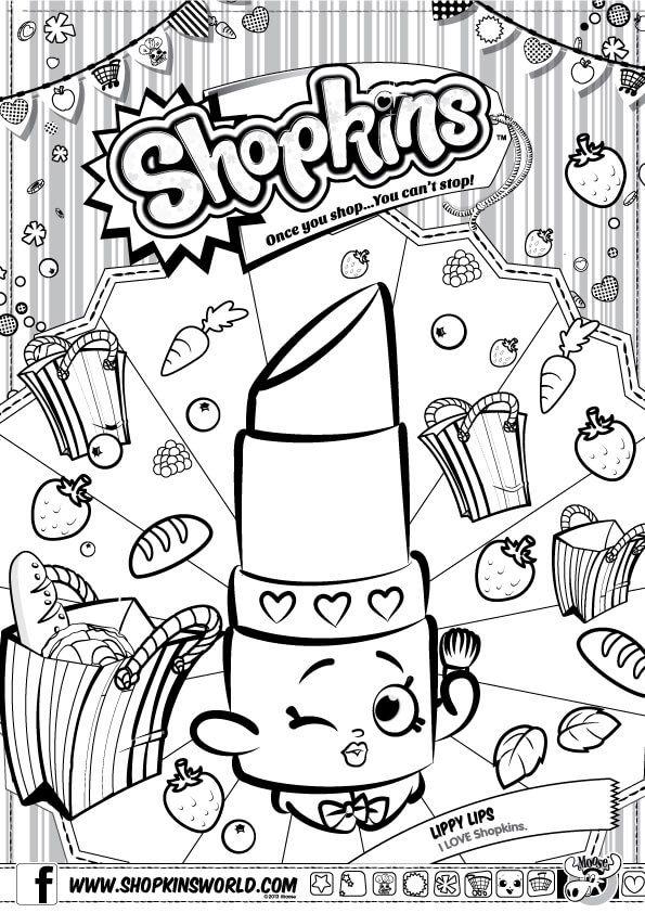 shopkins para colorear los mejores dibujos gratis