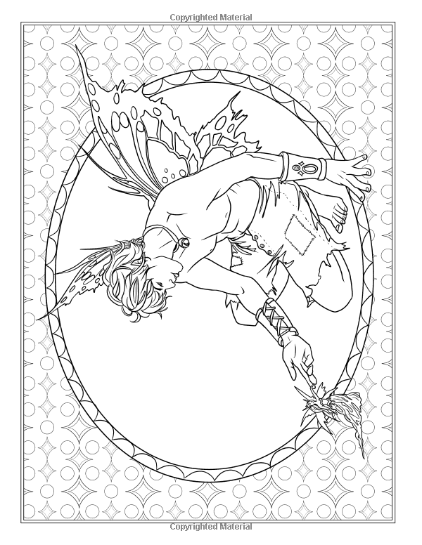 Fairy Portraits Dragon Keeper Coloring PageDigi Stamp Fantasy Printable Download by Selina Fenech