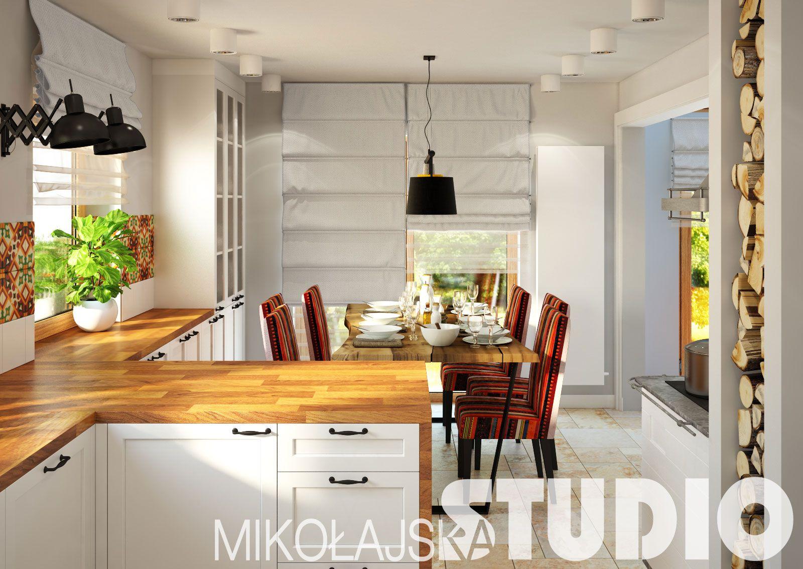Kuchnia Z Jadalnia W Stylu Boho Kitchen Interior Boho Interior Design Interior Design Kitchen