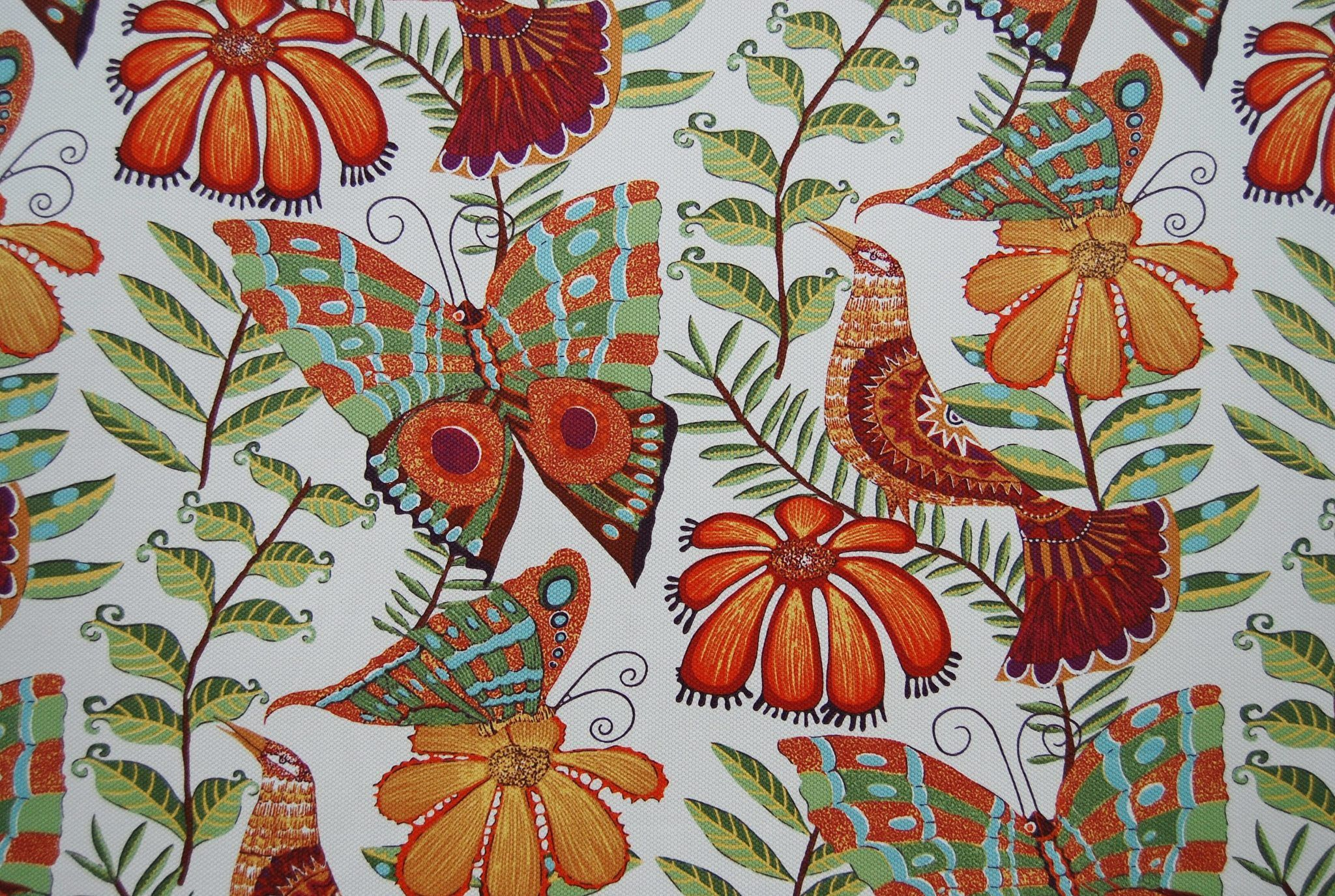 Vilber Colom 04 Birds Feathered Friends Fabric