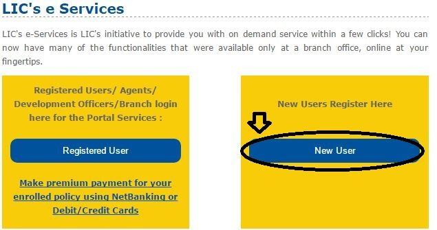 Policy Registration at LIC's e-Services Portal | Policies ...