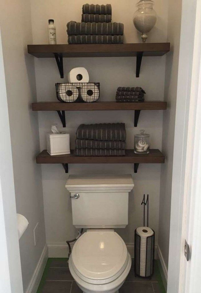 ✔87 small bathroom storage ideas and wall storage solutions 76 » Interior Design #smallbathroomstorage