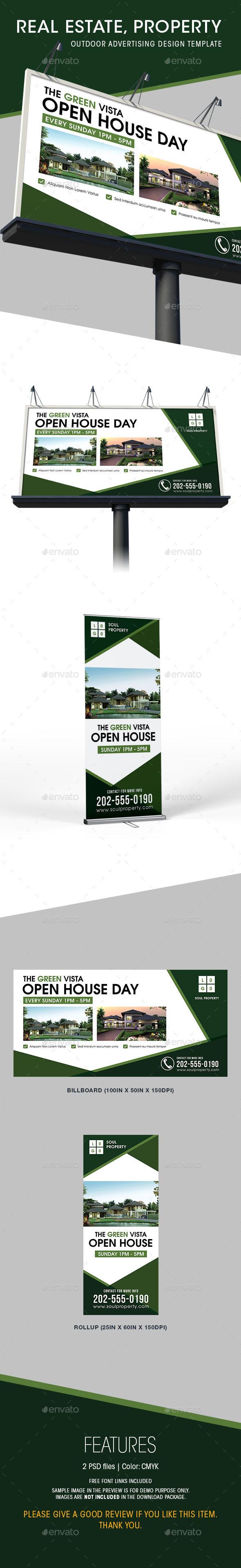 Real estate billboard design samples - Real Estate Billboard Rollup Templates