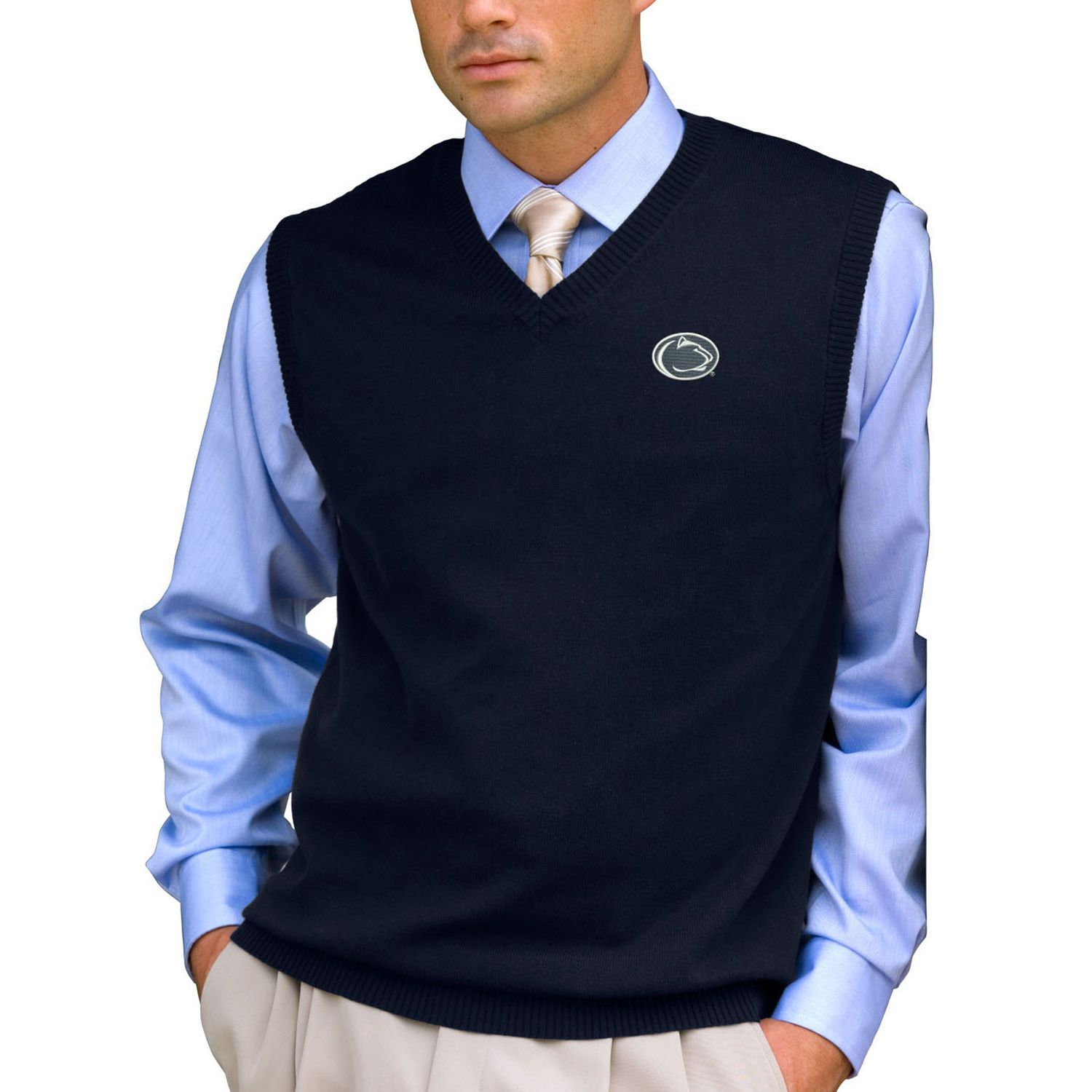 Penn State Nittany Lions Milano Knit Sweater Vest - Navy | Sweater ...