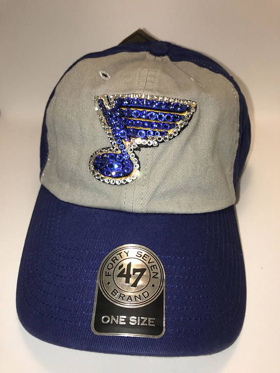 df9dd31d Swarovski crystal bling St. Louis Blues adjustable hat   Swarovski ...