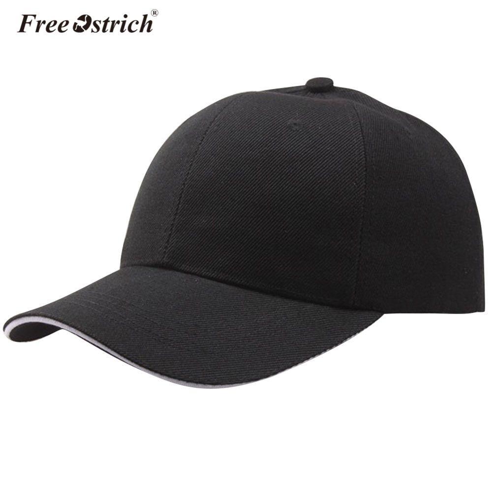 18e22238d63a1 Free Ostrich Baseball Cap Mesh Cap Hats For Men Women Dad Casquette Solid  Gorras Hombre hats Classic Hip Hop Caps B0520