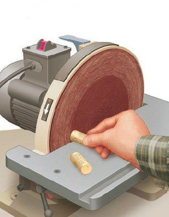 Using Wine Corks To Clean Your Sanders And Abrasives Woodworking Woodworking Tips Woodworking Project Design