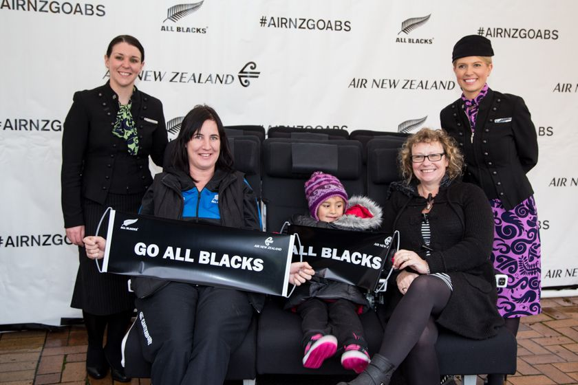 On the Air New Zealand Economy Skycouch with All Blacks in Dunedin #AIRNZGOABS #AirNZ
