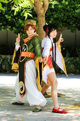 Cardcaptor Sakura Meilin and Li Cosplay (NOte: Why is Li played by a... GIRL?)