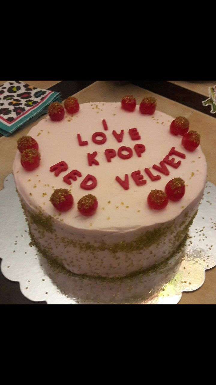 Image result for red kpop cake
