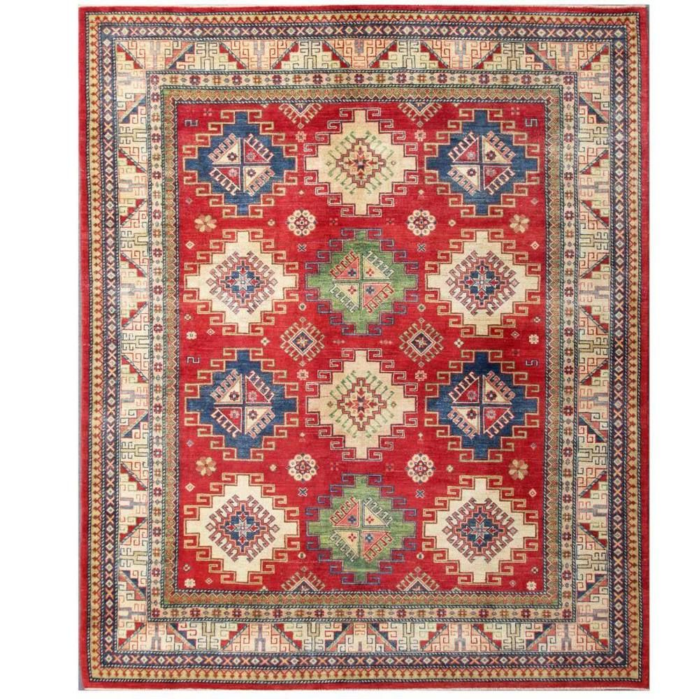 Herat Oriental Afghan Hand Knotted Kazak Red Ivory Wool Rug X Ping Great Deals On Rugs
