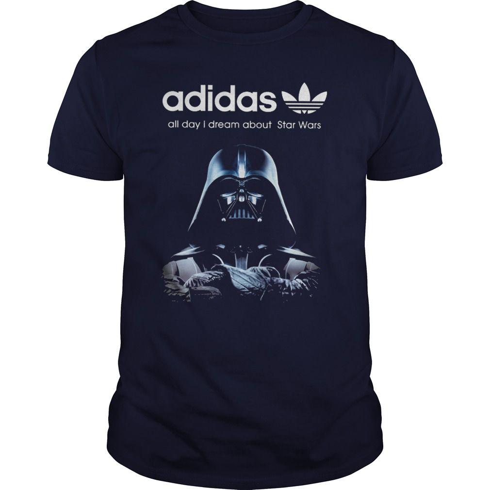 Adidas All Day I Dream Star Wars Shirt Hoodie Tank Top Custom Shirts Star Wars Shirts Shirts [ 1010 x 1010 Pixel ]