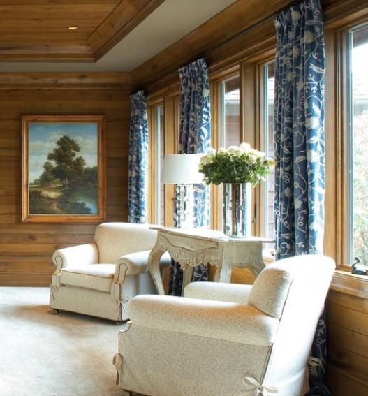 Room Ideas: Distinguished Blue Velvet And Other Fabrics