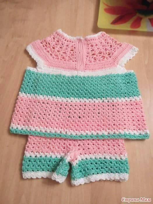 Hacer labores de ganchillo para bebé con los patrones de ropita te ...