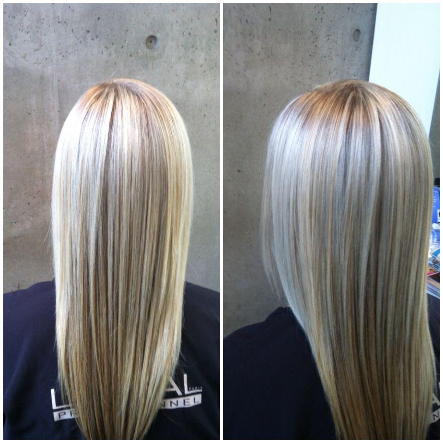 Blonde Blonde Highlights Long Hair Straight Hair Platinum Blonde Cool Blonde Lange Haare Highlights Highlight Frisuren Braune Haare Blonde Highlights