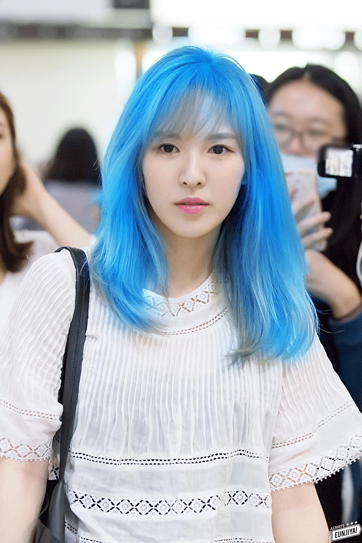 If Red Velvet Dyed Their Hairs As Their Representative Colors Gaya Rambut Rambut Gadis Korea