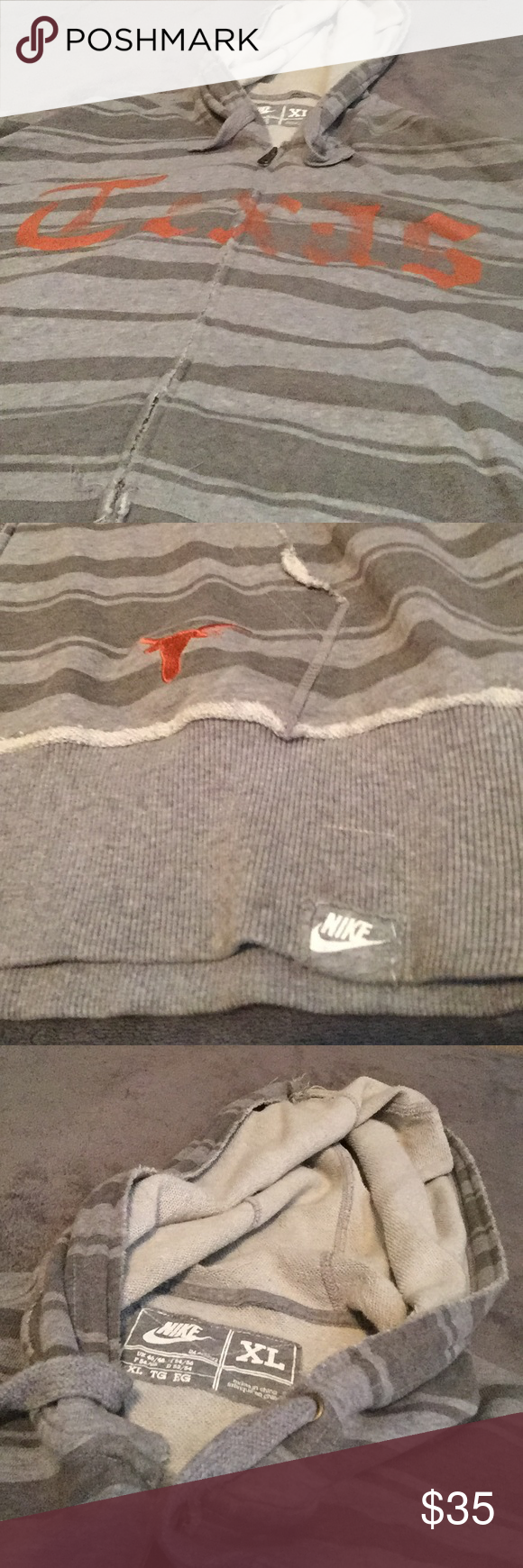 Nike Texas Longhorns zip up hoodie. Like new! No rips, stains or holes, great condition! Nike Sweaters Zip Up