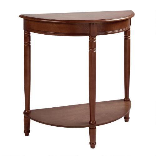 Christmas Tree Store Furniture: Walnut Half-Moon Console Table