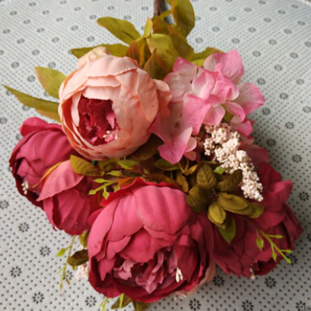 Silk flower european 1 bouquet artificial flowers fall vivid peony cheap silk peonies buy quality silk peony flowers directly from china artificial flowers suppliers 5 color 1 bouquet silk peony flower european artificial izmirmasajfo Choice Image