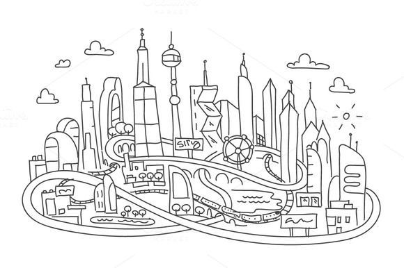 Drawings Future Drawing Future City Drawing Easy Futuristic Future City Future City Project Future City S In 2020 City Drawing Futuristic City Urban Fantasy Art