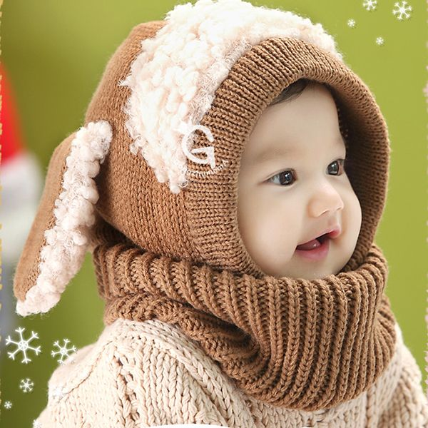 fdac89c7d Hot Sales Winter Toddler Kids Girls Boys Warm Woolen Coif Hood Scarf ...