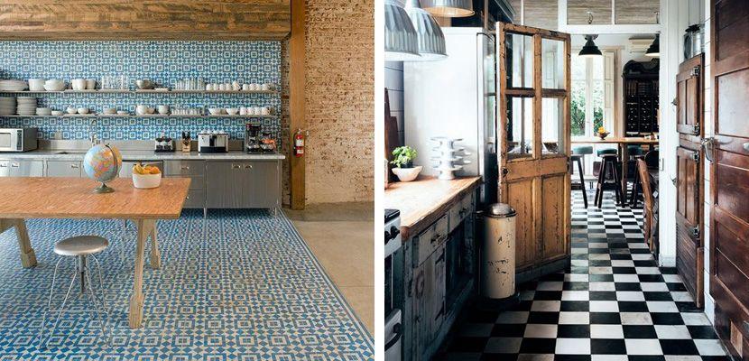 Ideas para el suelo de la cocina - http://www.decoora.com/ideas-suelo-la-cocina/