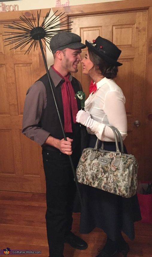 mary poppins and bert halloween costume contest at