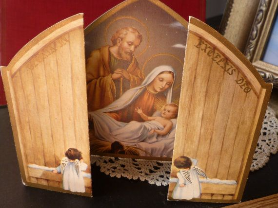 Antique Nativity Scene Christmas Card by rockhousecollection, $8.00