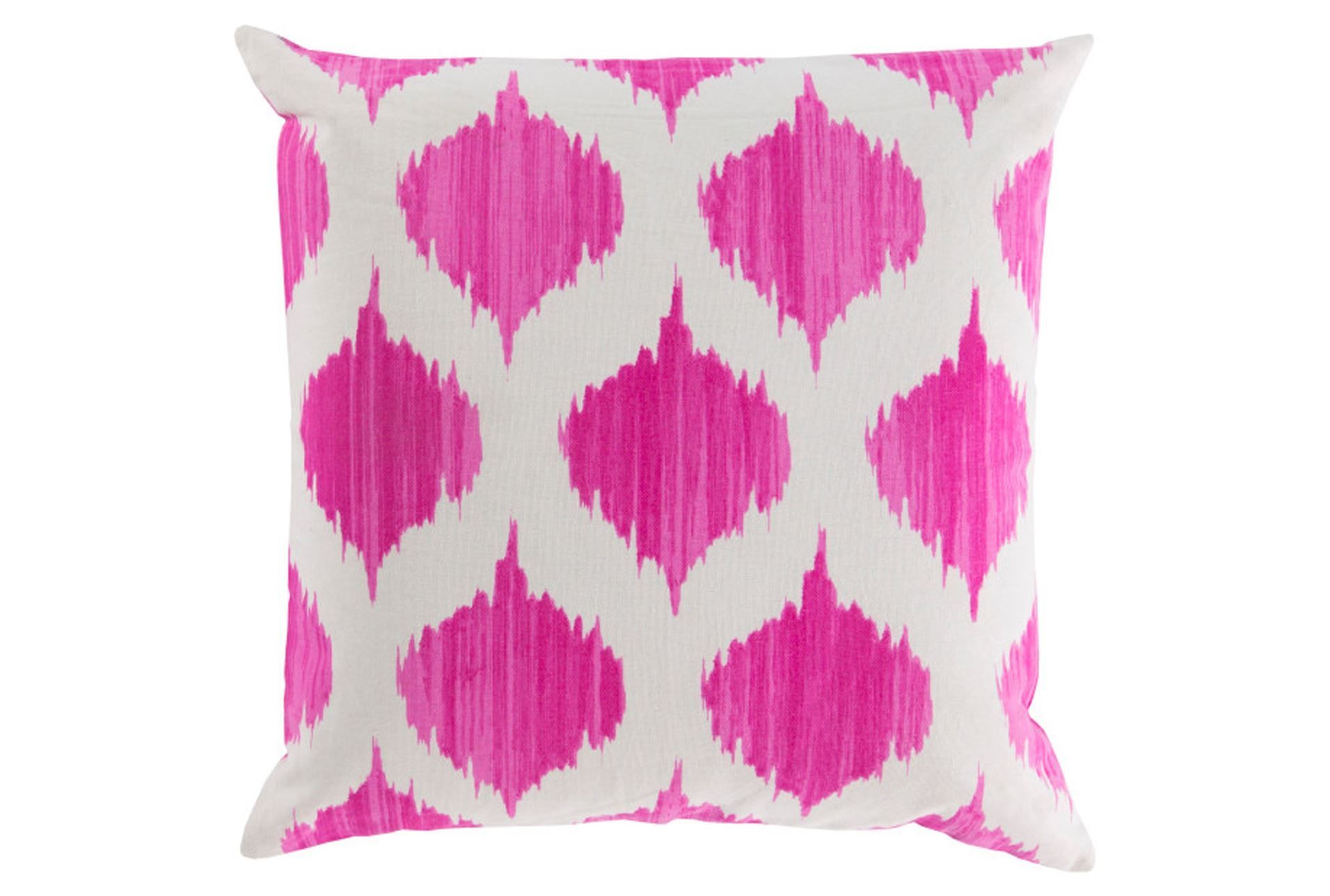 Accent Pillow Deven Geo MagentaIvory
