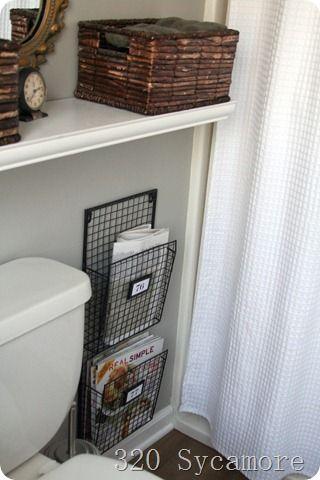 320 sycamore bathroom magazine racks for guest bathroom - Bathroom Magazine Rack